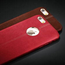 Shockproof Rugged Leather Back Case Cover For Apple iPhone 7 6 6S PLUS 5S SE