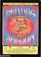 Red Dog Saloon Nevada City Fillmore Era Handbill Dead Janis Charlatans QMS JA