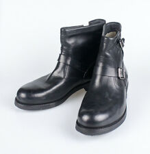 NIB. RALPH LAUREN Garett Black Vachetta Leather Ankle Boots Shoes 11 Italy $995