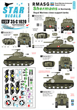 Star Decals 35-C1020,Decals for RMASG Shermans-Royal Marines tanks in Normandy