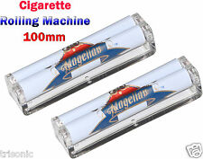 Lot of 2 Cigarette Maker Rolling Machine 100mm Long Easy Manual Tobacco Roller