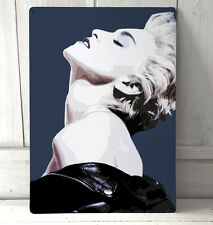 Madonna True Blue Portrait Pop Art A4 metal plaque Shabby Chic
