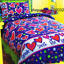 Saddle Club - Hearts - Double/US Full Bed Quilt Doona Duvet Cover Set