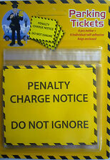 6 Fake Joke Prank Realistic Parking Tickets and bags. Great Fun.