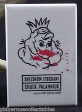 "Invisible Monsters Book Cover 2"" X 3"" Fridge / Locker Magnet. Chuck Palahniuk"