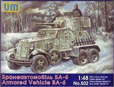 1/48 BA-6 Soviet armored vehicle UM Models kit 502