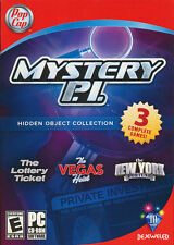 MYSTERY P.I. COLLECTION Hidden Object 3x PC Games Detective PI - BRAND NEW!