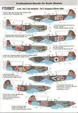 Foxbot Decals 1/48 YAKOVLEV Yak-9 Fighter RED WARHORSES