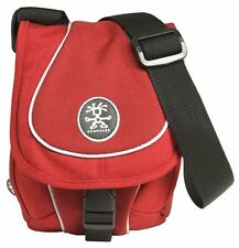 Crumpler Crisp E950 Compact Camera Media Pouch Case Bag - Red/Dark Red /Silver