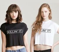 KILLIN' IT CROP TOP t shirt dope hype vogue ASAP SICK WASTED TEE swag TOP celine