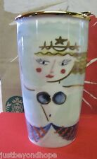 Starbucks 2014 Mermaid Siren In Water 12 oz Traveler Tumbler Mug NIB+ Gift Card