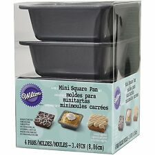 Wilton Aluminum Grey 4-piece Nonstick Square Pie Kitchen Baking Pan Set, Mini