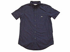 Ralph Lauren Denim and Supply Navy Blue Red Stars Polo Full Button Shirt Small
