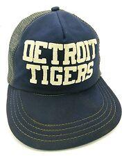 Vintage DETROIT TIGERS blue snapback cap / hat - DISTRESSED - read description