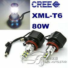 BMW E89 Z4 E70 X5 E92 H8 80W XML CREE High Power LED Angel Eyes HALO RING Marker