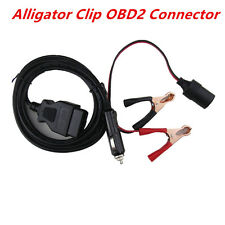 OBD2 Alligator Clip Connector Car ECU Memory Saver OBD 12V Battery Replace Tools