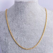 """Delicate Womens jewelry Yellow Gold Plated Water Wave Chain Necklace 17.3"""""""