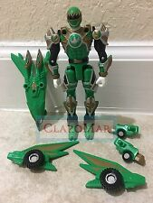 ☀️ 2002 Power Rangers Ninja Storm GREEN Samurai Turbo Tri-Battlized Figure RARE