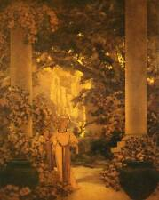 "Vintage MAXFIELD PARRISH POSTER Print ""LAND OF MAKE BELIEVE"""