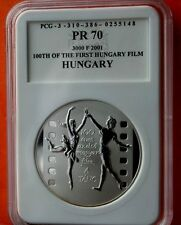 "Hungary 3000 Ft 2001 First Hungarian Film ""The Dance"" Proof Silver"