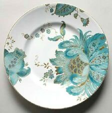 Brand New 222 FIFTH China ELIZA TEAL & White Flowers SALAD PLATE 4 Available