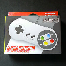 RetroLink SNES Super Nintendo Famicom PC Mac USB Controller Gamepad Color Button