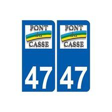 47 Pont-du-Casse logo autocollant plaque stickers ville arrondis