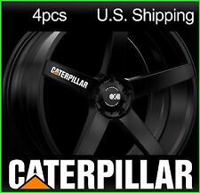 4 CATERPILLAR Stickers Decals Wheels Rims Truck CAT WHITE