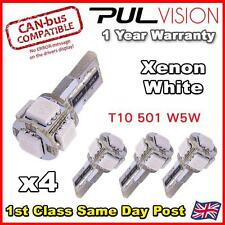 4 x ERROR FREE CANBUS 5 SMD CAR LED HID WHITE W5W T10 501 SIDE LIGHT BULBS