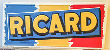 c. 1950s RICARD ALCOHOL TIN LITHO SIGN, ANDREIS, MARSEILLE, FRANCE, VINTAGE