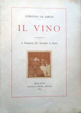 1890 – EDMONDO DE AMICIS, IL VINO – LETTERATURA ITALIANA PSICOLOGIA CONFERENZE