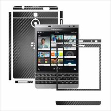 3D Carbon Skin,FullBody Protector for Case,Vinyl Wrap Blackberry Passport Silver