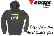 NEW - DAINESE - FELPA COLOR NEW - HOODY - BLACK YELLOW NEON - SIZE L