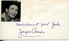 """JACQUES CHARRIER """"THE THIRD LOVER"""" FRENCH ACTOR SIGNED CARD AUTOGRAPH"""