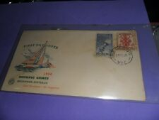 Australia 1956 fdc  olympic games melbourne