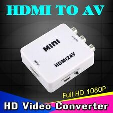 HD Video Converter Box HDMI to AV/CVBS L/R Video Adapter HDMI to cvbs+NTSC/PAL