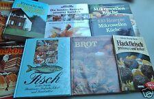 KOCHBUCH Konvolut: 9 Bücher Kochen BackenHaus + Garten Fisch Brot Kuchen Rezepte