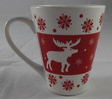Kaffeebecher 250 ml Tasse Weihnachten 2016 Rentier Schnee Weiß Rot Weiß Neu