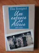 UNE ENFANCE EN ALSACE 1907-1918