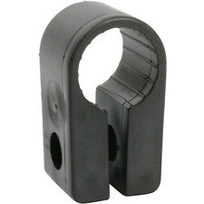 QTY 50x 7.6mm Black Cable Cleat Clip - Size 3 - SWA Armoured - Screw Fixing P