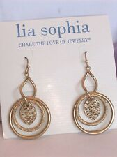 Beautiful Lia Sophia GLANCE Dangle Earrings with a Twist!, NWT