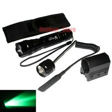 UltraFire 501B CREE Green light LED 1Mode Tactical Flashlight + Holster Mount