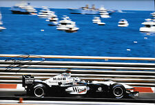 "David Coulthard SIGNED 12x8 McLaren-Mercedes MP4/17 ,  Monaco GP 2002 ""Winner"""