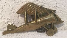 1979 Solid Brass Airplane (Bi-plane) belt buckle   Baron Buckle   No. 6122