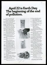 1970 Earth Day the first announcement vintage print ad