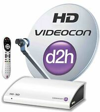 Videocon d2h HD Set Top Box with 1 month Super Gold and HD pack