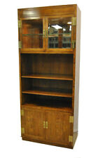Campaign Style Pecan Modular Wall Unit by Henredon, Scene One, #60-9105