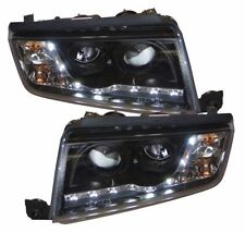 Skoda Fabia 99-07 Black LED DRL Projector Headlights Lighting Lamp Spare Part
