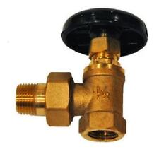 "HVAC 1/2"" BRASS HOT WATER ANGLE RADIATOR SHUT OFF VALVE W/ NUT AND COUPLING NEW!"