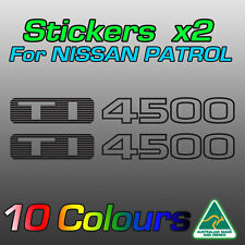 Nissan Patrol TI4500 TI 4500 stickers decals for GU model   **Premium quality***